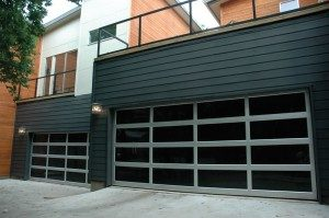 contemporary style glass garage door peoria az